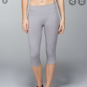Lululemon In The Flow compression leggings grey